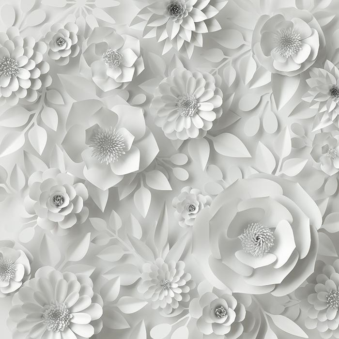گل سفید سه بعدی