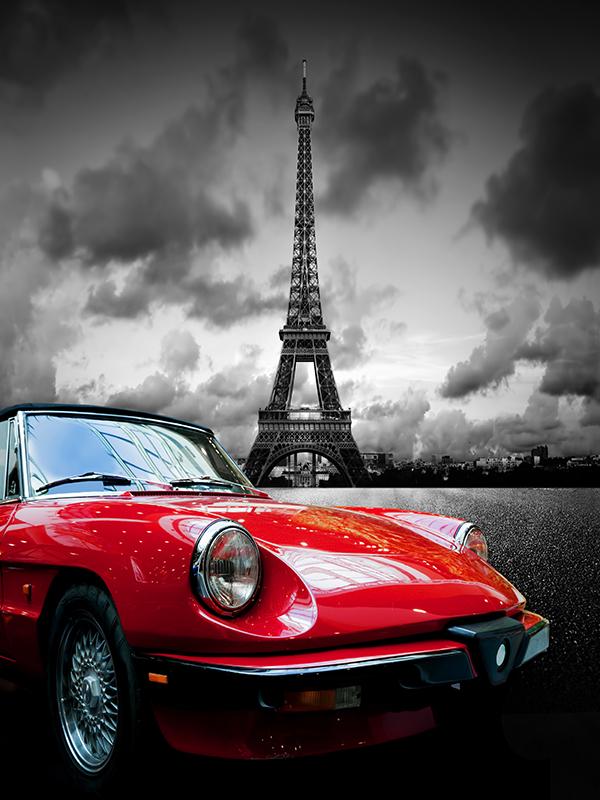 برج ایفل و ماشین
