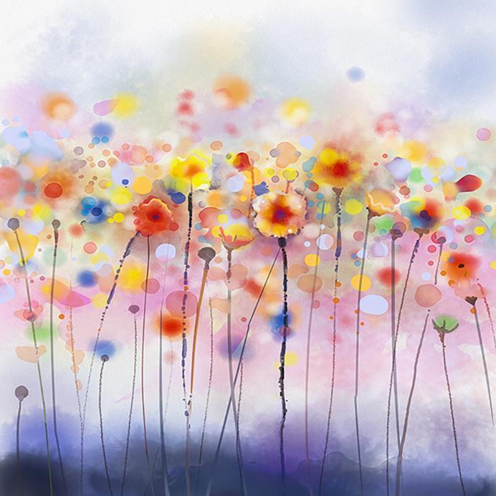 گل آبرنگی