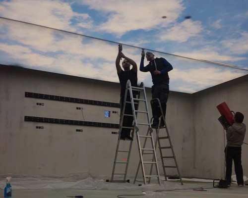 مراحل نصب سقف کشسان