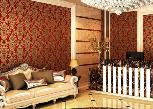 کاغذ دیواری سالن پذیرایی کلاسیک