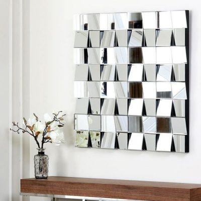ترکیب کاغذ دیواری و آینه کاری