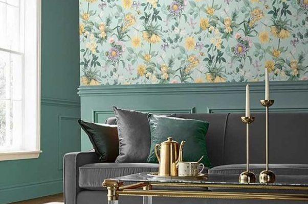 اصول ترکیب کاغذ دیواری و رنگ دیوار